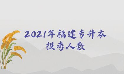 2021年福建专升本报考人数
