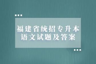 福建省统招专升本语文试题及答案